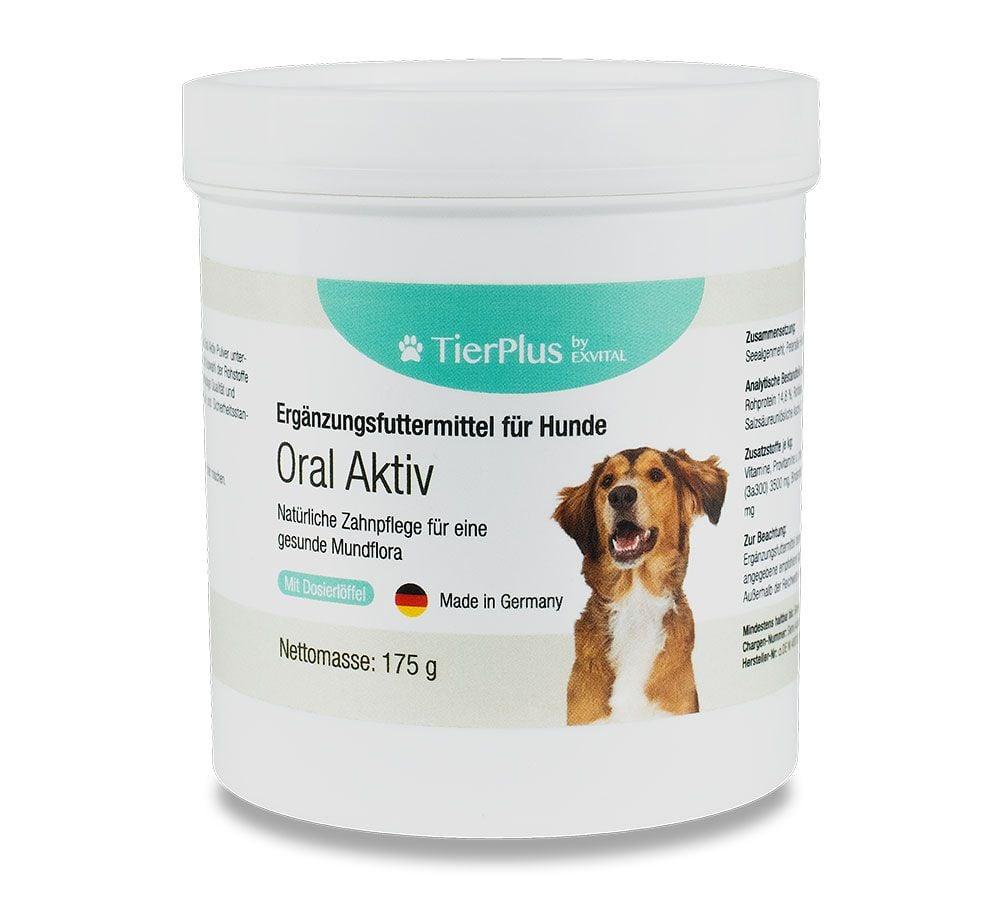 Zahnpflege Pulver fr Hunde, 175g Dose