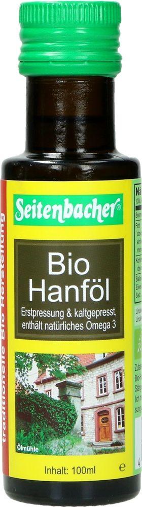 Bio Hanfl von Seitenbacher, 100 ml Flasche