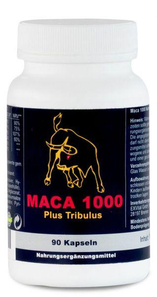 Maca 1000 Plus Tribulus von EXVital, 90 Kapseln