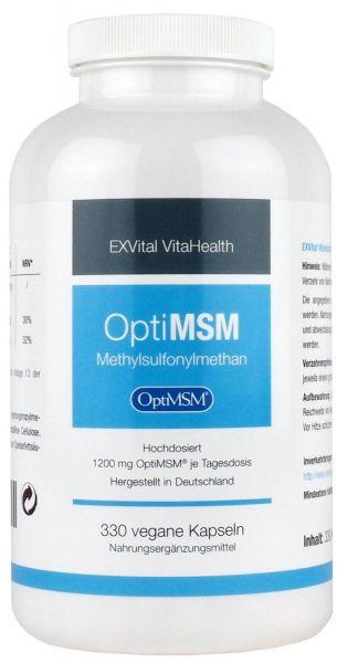 OptiMSM - Methylsulfonylmethan MSM Pulver von EXVital VitaHealth, 330 Kapseln