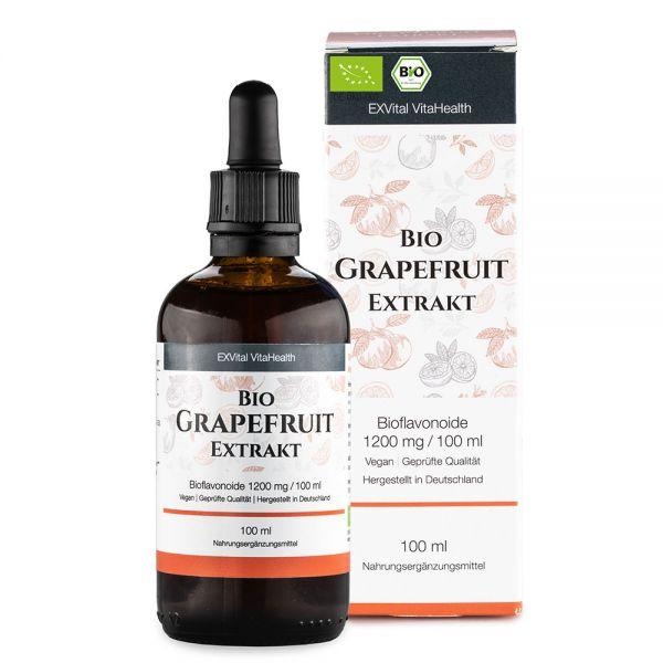 Bio Grapefruitkernextrakt Tropfen von EXVital, 1200mg Bioflavonoide