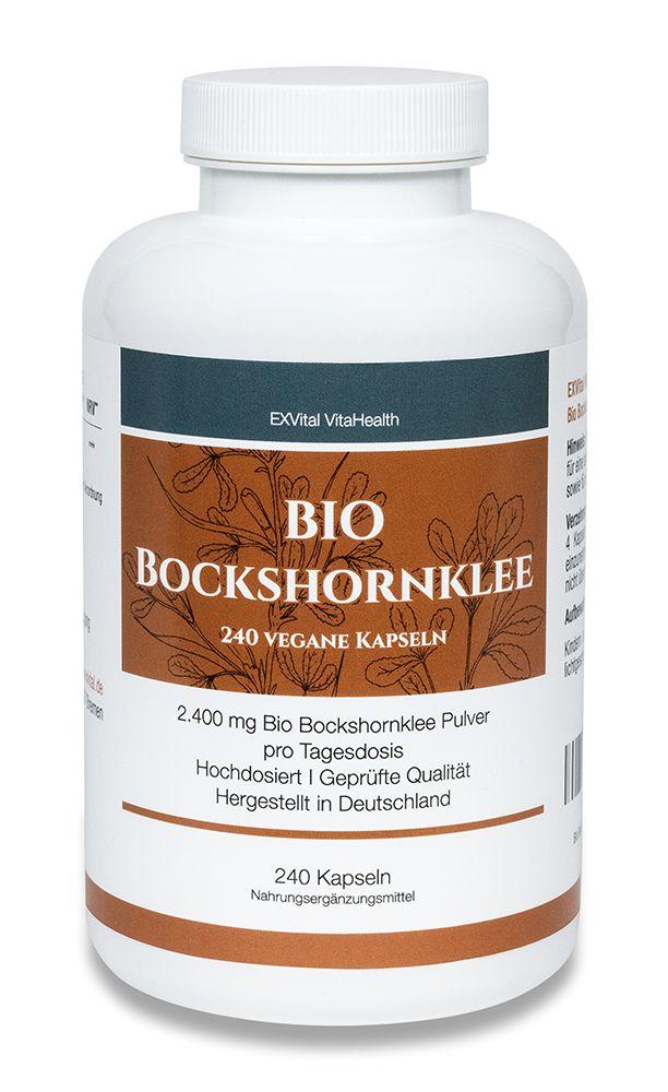 BIO Bockshornklee, 240 Kapseln, 2400 mg pro Tagesdosis