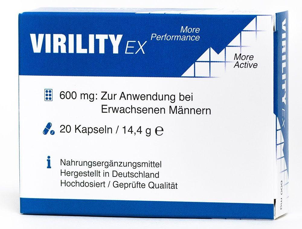 Virility EX - 600mg aktiv Formel - fr den Mann