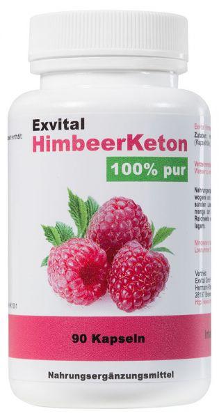 EXVital HimbeerKeton, 90 Kapseln in Premiumqualität, 100% Keton, Hochdosiert